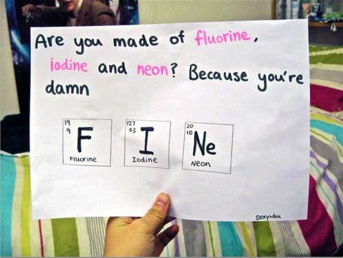 best chemistry pick up lines